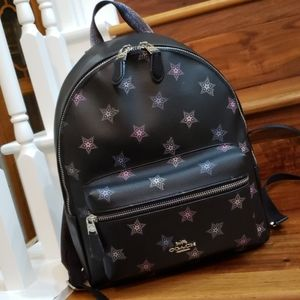 NWT Coach Star Print Medium Charlie Backpack